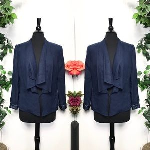 Premise Studio Blue Asymmetrical Blazer Jacket - 8